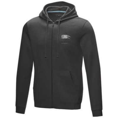 Picture of RUBY MENS GOTS ORGANIC GRS RECYCLED FULL ZIP HOODED HOODY XS in Storm Grey