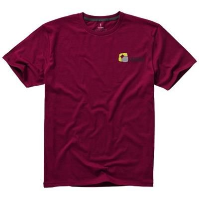 Picture of NANAIMO SHORT SLEEVE MENS T-SHIRT in Burgundy