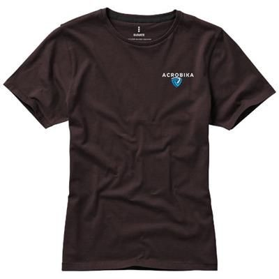 Picture of NANAIMO SHORT SLEEVE LADIES T-SHIRT in Chocolate Brown