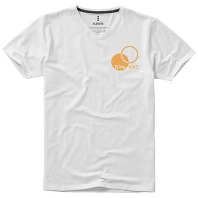Picture of KAWARTHA SHORT SLEEVE MENS ORGANIC T-SHIRT in White Solid