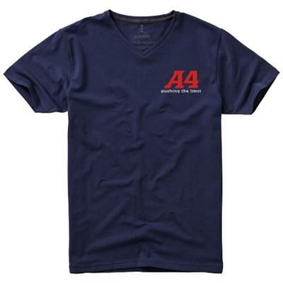 Picture of KAWARTHA SHORT SLEEVE MENS ORGANIC T-SHIRT in Navy