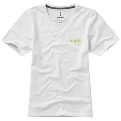 Picture of KAWARTHA SHORT SLEEVE LADIES ORGANIC T-SHIRT in White Solid