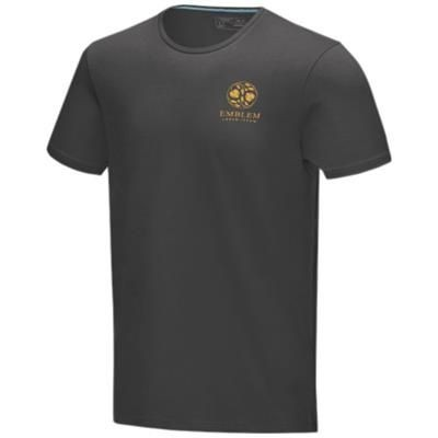 Picture of BALFOUR SHORT SLEEVE MENS GOTS ORGANIC T-SHIRT XS in Storm Grey
