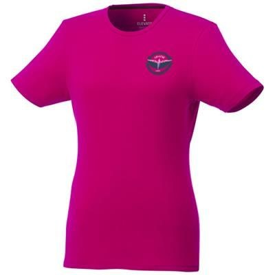Picture of BALFOUR SHORT SLEEVE LADIES GOTS ORGANIC T-SHIRT XS in Magenta