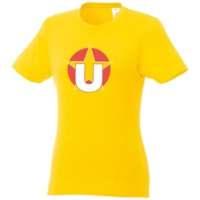 Picture of HEROS LDS TEE SHIRT YELLOW XS in Yellow