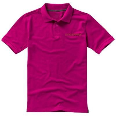 Picture of CALGARY SHORT SLEEVE MENS POLO in Pink