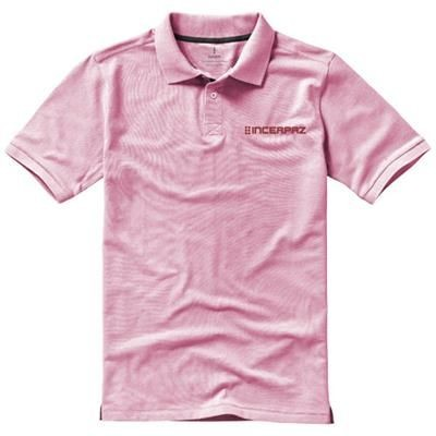 Picture of CALGARY SHORT SLEEVE MENS POLO in Light Pink