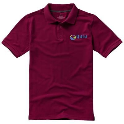 Picture of CALGARY SHORT SLEEVE MENS POLO in Burgundy