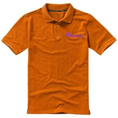 Picture of CALGARY SHORT SLEEVE MENS POLO in Orange