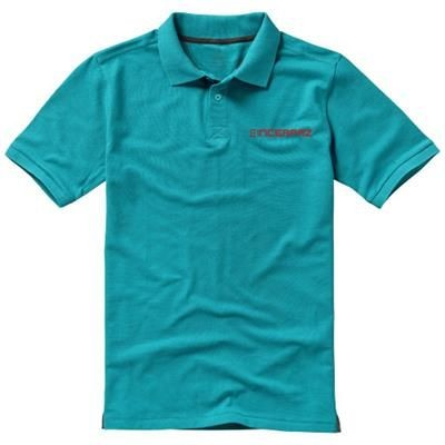 Picture of CALGARY SHORT SLEEVE MENS POLO in Aqua