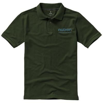 Picture of CALGARY SHORT SLEEVE MENS POLO in Army Green