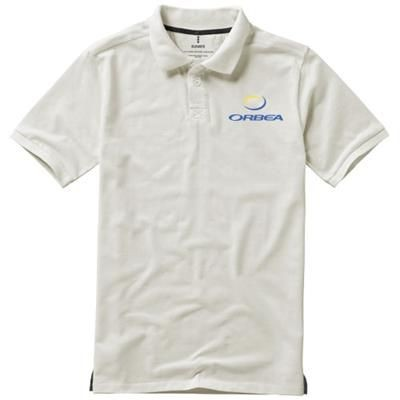 Picture of CALGARY SHORT SLEEVE MENS POLO in Pale Grey