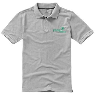 Picture of CALGARY SHORT SLEEVE MENS POLO in Grey Melange
