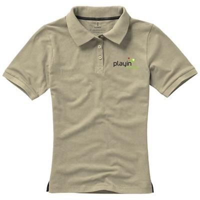 Picture of CALGARY SHORT SLEEVE LADIES POLO in Khaki