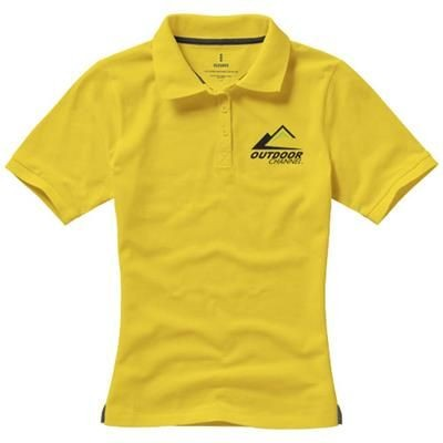 Picture of CALGARY SHORT SLEEVE LADIES POLO in Yellow