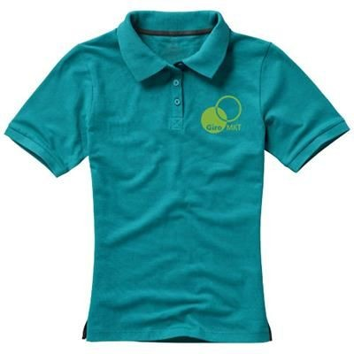 Picture of CALGARY SHORT SLEEVE LADIES POLO in Aqua