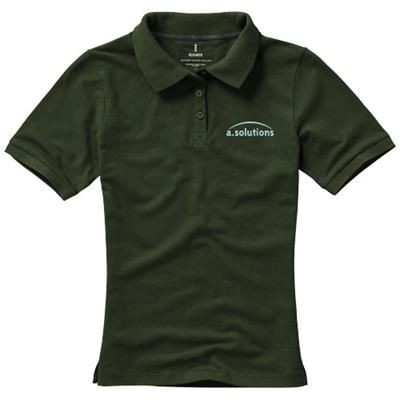 Picture of CALGARY SHORT SLEEVE LADIES POLO in Army Green