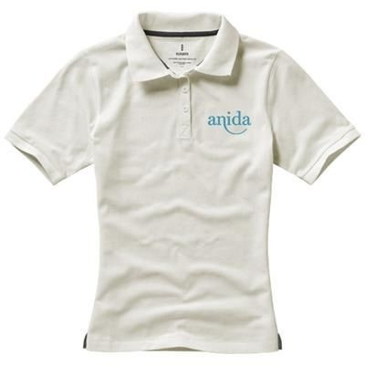 Picture of CALGARY SHORT SLEEVE LADIES POLO in Pale Grey