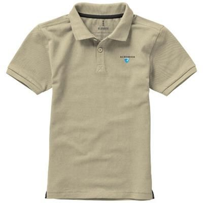Picture of CALGARY SHORT SLEEVE CHILDRENS POLO in Khaki