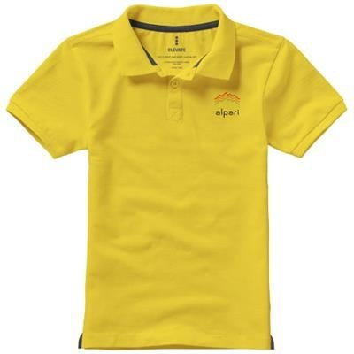Picture of CALGARY SHORT SLEEVE CHILDRENS POLO in Yellow