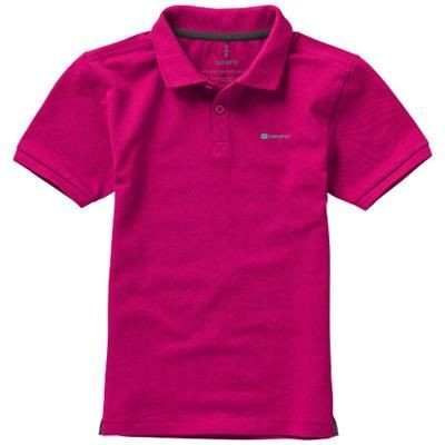 Picture of CALGARY SHORT SLEEVE CHILDRENS POLO in Pink