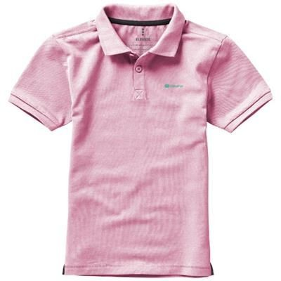 Picture of CALGARY SHORT SLEEVE CHILDRENS POLO in Light Pink