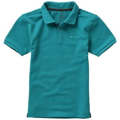 Picture of CALGARY SHORT SLEEVE CHILDRENS POLO in Aqua