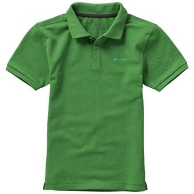 Picture of CALGARY SHORT SLEEVE CHILDRENS POLO in Fern Green