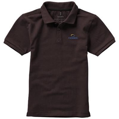 Picture of CALGARY SHORT SLEEVE CHILDRENS POLO in Chocolate Brown