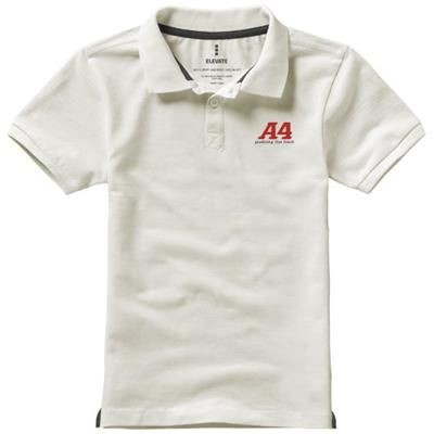 Picture of CALGARY SHORT SLEEVE CHILDRENS POLO in Pale Grey