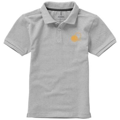 Picture of CALGARY SHORT SLEEVE CHILDRENS POLO in Grey Melange