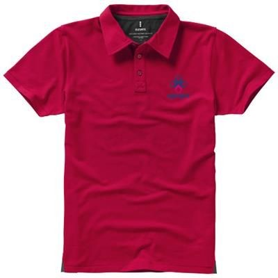 Picture of MARKHAM SHORT SLEEVE MENS STRETCH POLO in Red