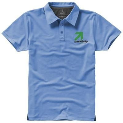 Picture of MARKHAM SHORT SLEEVE MENS STRETCH POLO in Light Blue