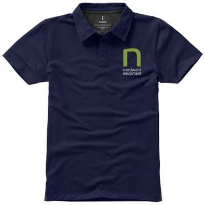 Picture of MARKHAM SHORT SLEEVE MENS STRETCH POLO in Navy