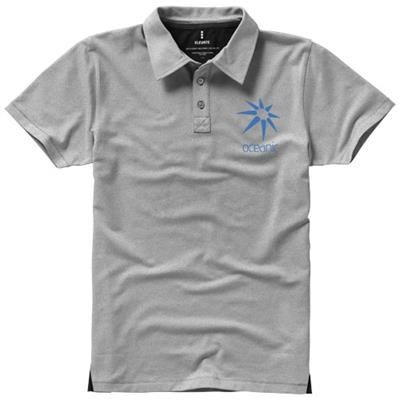 Picture of MARKHAM SHORT SLEEVE MENS STRETCH POLO in Grey Melange