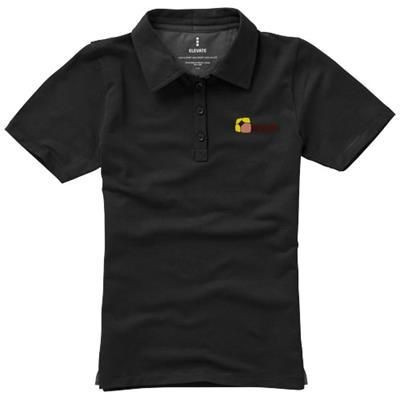 Picture of MARKHAM SHORT SLEEVE LADIES STRETCH POLO in Black Solid