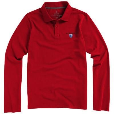 Picture of OAKVILLE LONG SLEEVE MENS POLO in Red