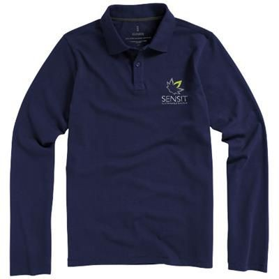 Picture of OAKVILLE LONG SLEEVE MENS POLO in Navy