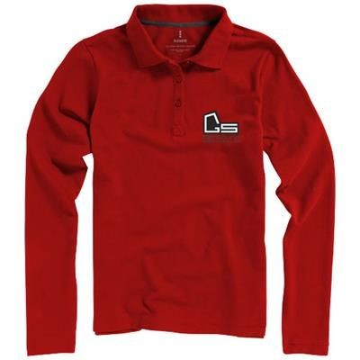 Picture of OAKVILLE LONG SLEEVE LADIES POLO in Red