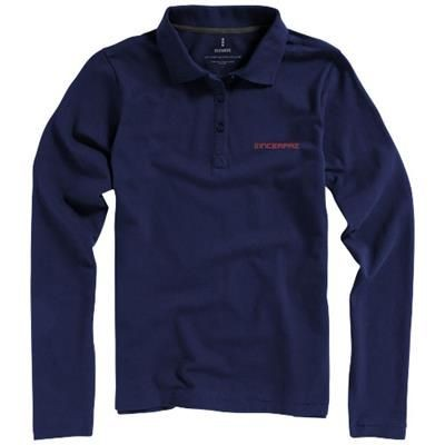 Picture of OAKVILLE LONG SLEEVE LADIES POLO in Navy