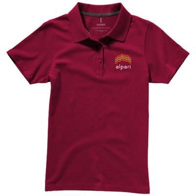 Picture of SELLER SHORT SLEEVE LADIES POLO XS in Burgundy