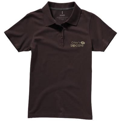 Picture of SELLER SHORT SLEEVE LADIES POLO XS in Chocolate Brown