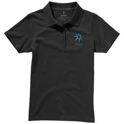 Picture of SELLER SHORT SLEEVE LADIES POLO XS in Anthracite Grey