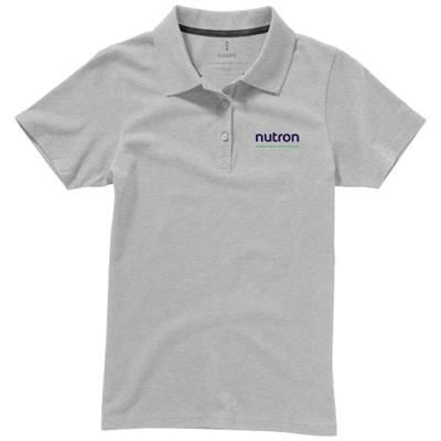 Picture of SELLER SHORT SLEEVE LADIES POLO XS in Grey Melange