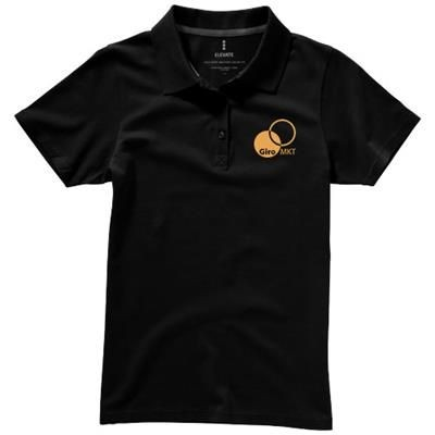 Picture of SELLER SHORT SLEEVE LADIES POLO in Black Solid