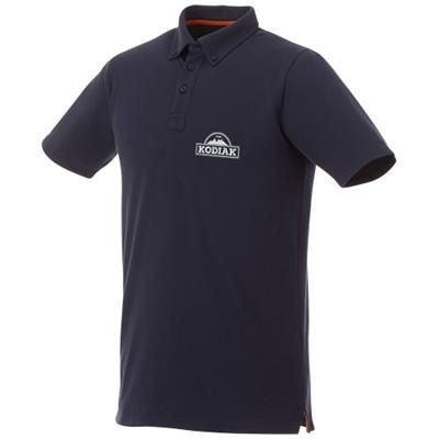 Picture of ATKINSON SHORT SLEEVE BUTTON-DOWN MENS POLO in Navy