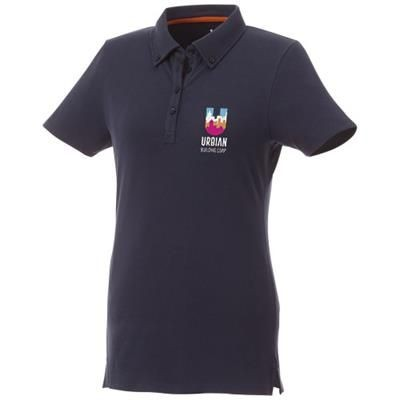 Picture of ATKINSON SHORT SLEEVE BUTTON-DOWN LADIES POLO in Navy