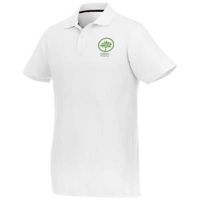 Picture of HELIOS SHORT SLEEVE MENS POLO in White Solid