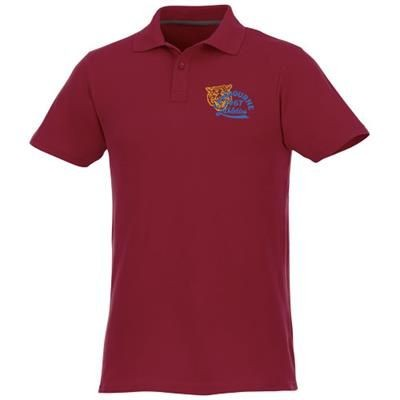 Picture of HELIOS SHORT SLEEVE MENS POLO in Burgundy