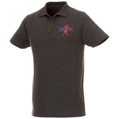 Picture of HELIOS SHORT SLEEVE MENS POLO in Heather Charcoal